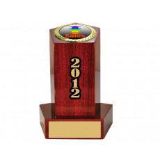 08. Sales Small Piano Finish Wooden Pedestal