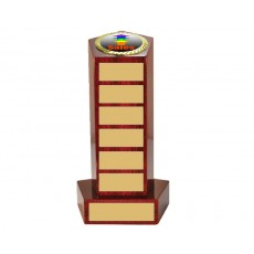 09. Sales Large Piano Finish Wooden Pedestal