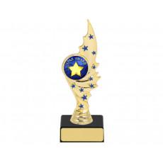 "1"" Gold with Blue Stars Holder on Base"