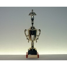31. Achievement Figure Gold Cup, Black & Mandarin Base