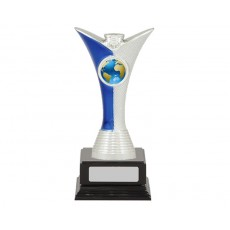 Achievement Blue/Silver Trophy, Black Base