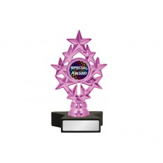 "A111. 1"" Metallic Pink Holder, Black Star Base"