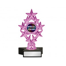 "A112. 1"" Metallic Pink Holder, Black Star Base"