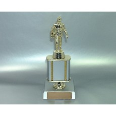 Sales Figure, Pewter Colour Trophy