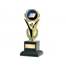 "03. 2"" Gold Achievement Holder, Public Speaking on Black Base"
