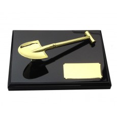 10. Gold Spade, Black Plaque