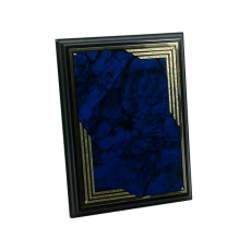 Black Plaque, Marble Blue Plate