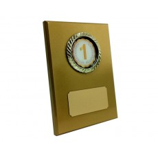 "2"" Holder, Gold Desk Plaque"