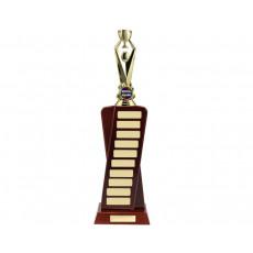 Self Standing Walnut Perpetual Trophy