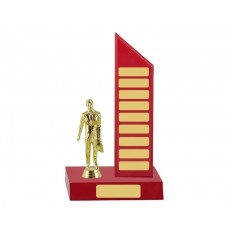Self Standing Red Perpetual Trophy