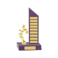 Self Standing Purple Perpetual Trophy