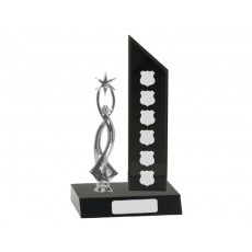 56. Self Standing Black Perpetual Trophy