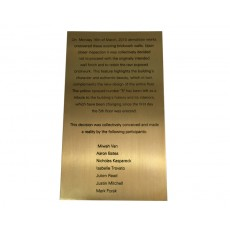 Outdoor Custom Plaque - Brushed Brass