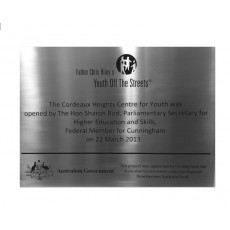Outdoor Custom Plaque - Stainless Steel