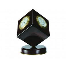 Piano Finish Deep Mahogany Cube Table Clock