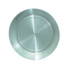 """01. Oriental Pewter Round Tray Plate, 8"""""""