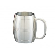 14. Oriental Pewter 'Barrel' Tankard, 520mls, 20oz