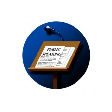 Public SpeakingAcrylic Button