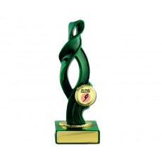 "01. Green Ribbon on Green Base, 1"" Holder"