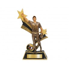 Baseball Male Star Ribbon Resin Trophy