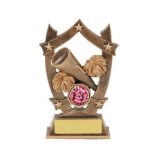 Cheerleading Star & Shield Resin Trophy