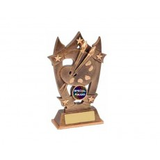 Art Paint Brush & Palette Resin Trophy