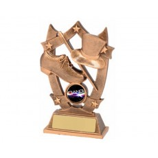 Dance Shield & Stars Resin Trophy