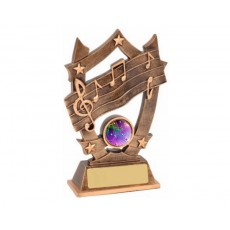 20. Medium Music Star Resin Trophy