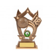 Golf Star Shield Resin Trophy