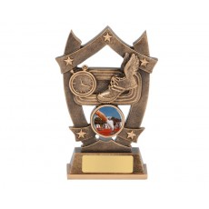 Athletics Shield & Stars Resin Trophy