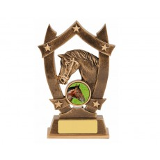 Horse Star Shield Resin Trophy