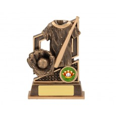 Baseball Bat, Glove & Ball Resin Trophy