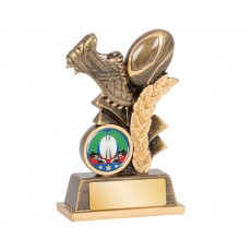 Rugby Boot & Ball Resin Trophy