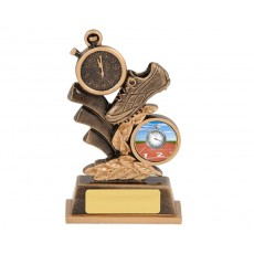 Athletics Running Shoe & Stopwatch Resin Trophy