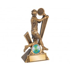 Male Tennis 'Storm' Series Resin Trophy
