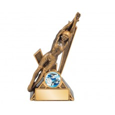 10. Medium Female Swimming 'Storm' Series Resin Trophy