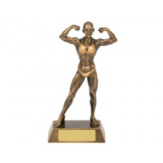 Female Bodybuilder Resin Trophy