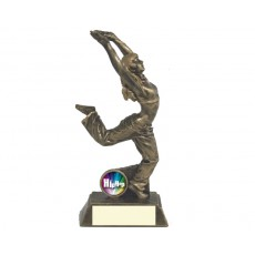 Female Hip Hop Dance Resin Trophy