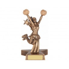 Cheerleading Figure Resin Trophy