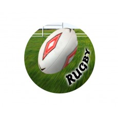 Rugby Acrylic Button