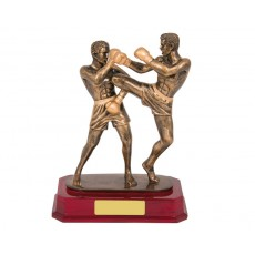 17. Kick Boxing, Double Action Resin Trophy