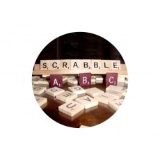 Scrabble Acrylic Button