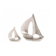10. Aluminium Nickel Plated Yachts, Set of 2