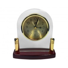 28. Glass & Timber Table Clock