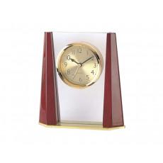 Glass & Timber Table Alarm Clock