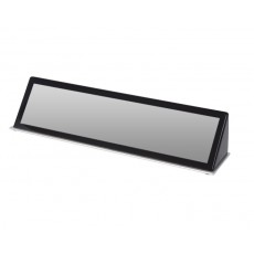 05. Desk Block Black - Piano Finish with Silver Metal Plinth