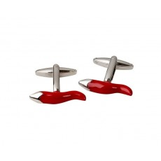 20. Men's Cufflinks 'Cornicello Chilli', Gift Boxed