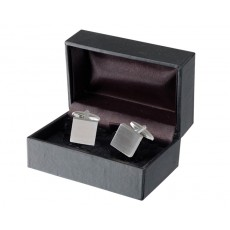 01. Men's Cufflinks Plain Square, Gift Boxed
