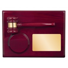 Premium High Gloss Wood Gavel Plaque Award