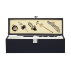02. Black Wood Wine Gift Box with Tools